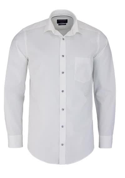 CASAMODA Modern Fit Hemd Langarm New Kent Kragen Chambray beige - Hemden Meister