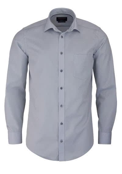 CASAMODA Modern Fit Hemd Langarm New Kent Kragen Chambray hellgrau - Hemden Meister