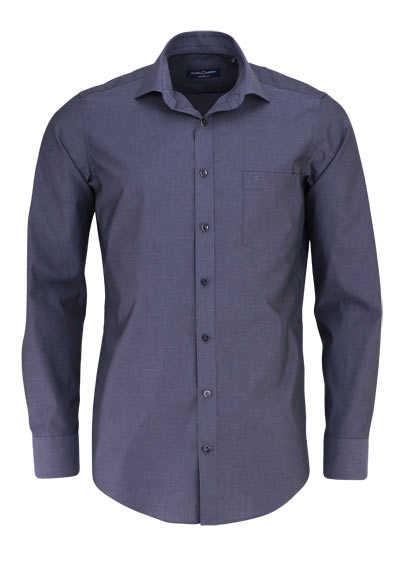 CASAMODA Modern Fit Hemd Langarm New Kent Kragen Popeline anthrazit - Hemden Meister