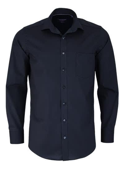 CASAMODA Modern Fit Hemd Langarm New Kent Kragen Popeline schwarz - Hemden Meister