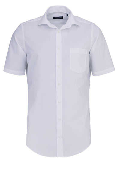 CASAMODA Modern Fit Hemd Halbarm New Kent Kragen Chambray weiß - Hemden Meister