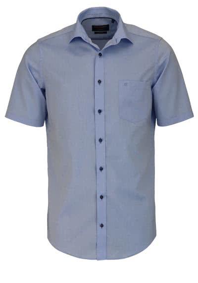CASAMODA Modern Fit Hemd Halbarm New Kent Kragen Chambray hellblau - Hemden Meister