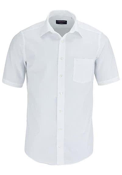 CASAMODA Modern Fit Hemd Halbarm New Kent Kragen Popeline weiß - Hemden Meister