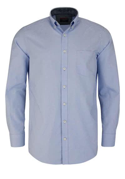 CASAMODA Comfort Fit Hemd Langarm Button Down hellblau - Hemden Meister