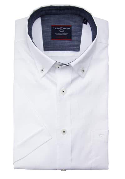 CASAMODA Comfort Fit Hemd Halbarm Button Down weiß