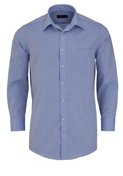 CASAMODA Comfort Fit Hemd extra kurzer Arm Chambray hellblau - Hemden Meister