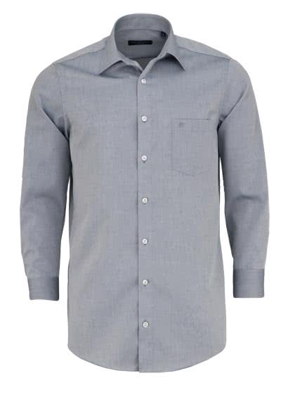 CASAMODA Comfort Fit Hemd extra kurzer Arm Chambray graphit - Hemden Meister