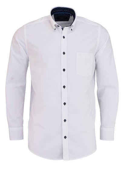CASAMODA Comfort Fit Hemd Langarm Button Down Kragen Oxford weiß - Hemden Meister