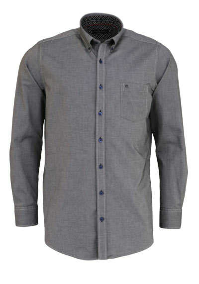 CASAMODA Comfort Fit Hemd Langarm Button Down Kragen Oxford anthrazit - Hemden Meister
