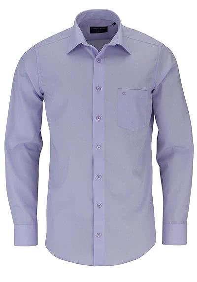 CASAMODA Modern Fit Hemd Langarm New Kent Kragen Popeline mauve - Hemden Meister