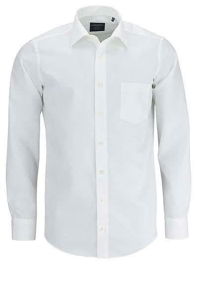 CASAMODA Modern Fit Hemd extra langer Arm Popeline beige - Hemden Meister