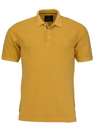 CASAMODA Poloshirt Halbarm reine Baumwolle Vintage Look sonnengelb - Hemden Meister