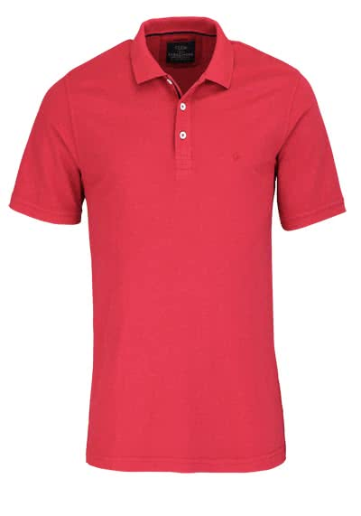 CASAMODA Poloshirt Halbarm reine Baumwolle Vintage Look chianti - Hemden Meister