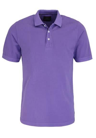 CASAMODA Poloshirt Halbarm reine Baumwolle Vintage Look mauve - Hemden Meister