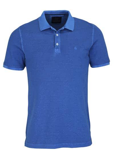 CASAMODA Poloshirt Halbarm reine Baumwolle Vintage Look marine - Hemden Meister