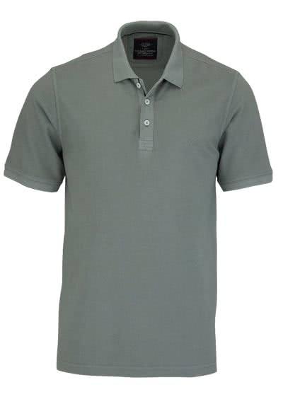 CASAMODA Poloshirt Halbarm reine Baumwolle Vintage Look hellgrau - Hemden Meister