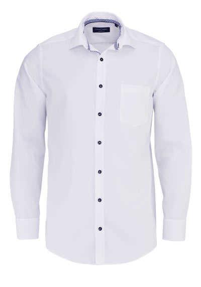 CASAMODA Comfort Fit Hemd Langarm New Kent Kragen weiß - Hemden Meister