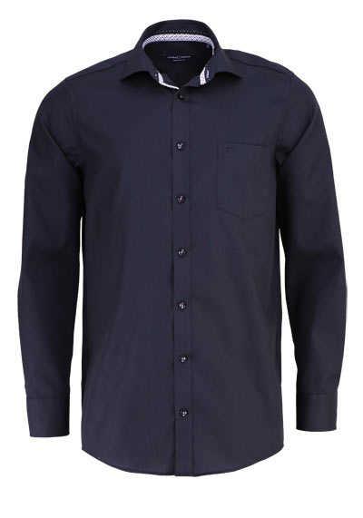 CASAMODA Comfort Fit Hemd Langarm New Kent Kragen schwarz - Hemden Meister