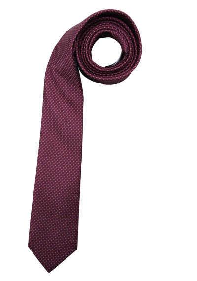 CASAMODA Krawatte extra lang reiner Seide 8 cm breit Muster weinrot - Hemden Meister