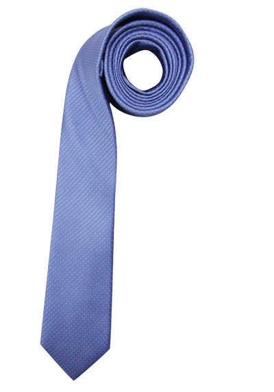 CASAMODA Krawatte extra lang reiner Seide 8 cm breit Muster blau - Hemden Meister