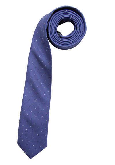 CASAMODA Krawatte aus reiner Seide 6 cm breit Punkte rauchblau - Hemden Meister