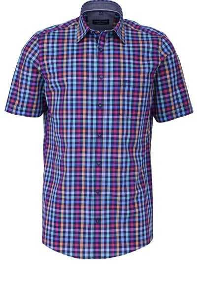 CASAMODA Comfort Fit Hemd Langarm New Kent Kragen Karo rot - Hemden Meister