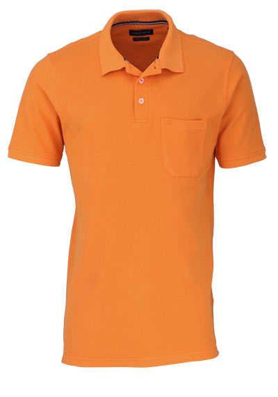 CASAMODA Poloshirt Halbarm Brusttasche geknöpfter Kragen orange - Hemden Meister