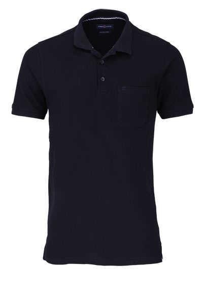 CASAMODA Poloshirt Halbarm Brusttasche geknöpfter Kragen schwarz - Hemden Meister