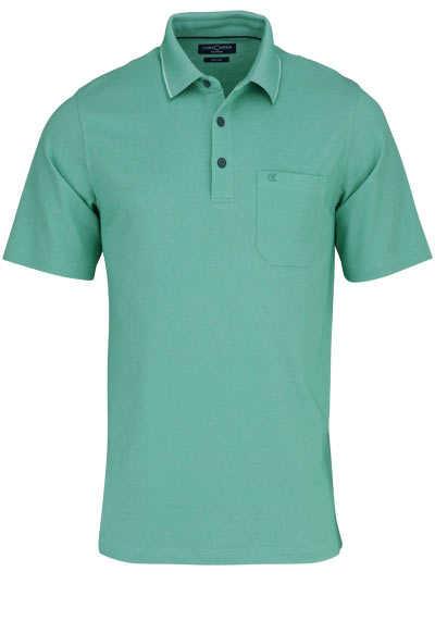 CASAMODA Poloshirt Halbarm Brusttasche geknöpfter Kragen mint - Hemden Meister