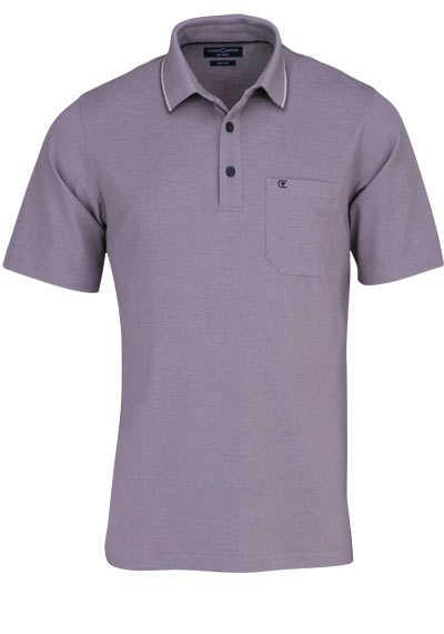 CASAMODA Poloshirt Halbarm Brusttasche geknöpfter Kragen hellbraun - Hemden Meister