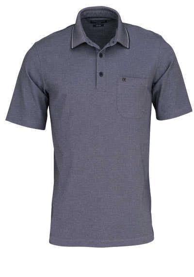CASAMODA Poloshirt Halbarm Brusttasche geknöpfter Kragen grau - Hemden Meister