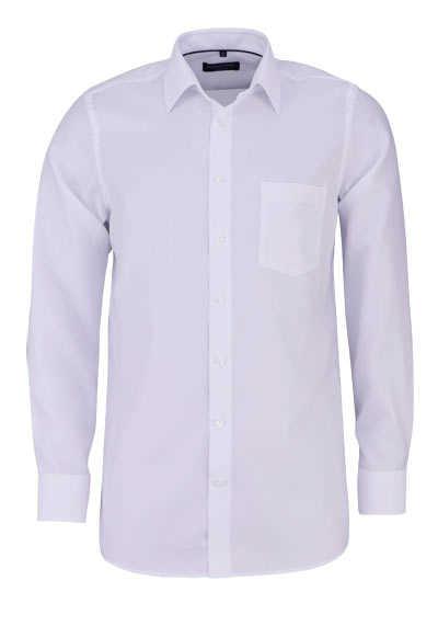 CASAMODA Comfort Fit Hemd Langarm New Kent Kragen Struktur weiß - Hemden Meister