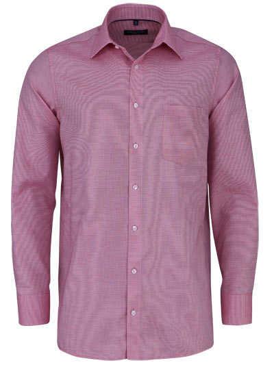 CASAMODA Comfort Fit Hemd Langarm New Kent Kragen Struktur rot - Hemden Meister