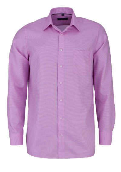 CASAMODA Comfort Fit Hemd super langer Arm Struktur rosa - Hemden Meister