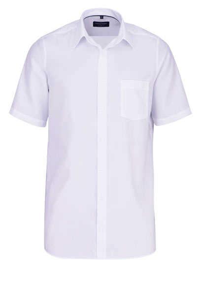 CASAMODA Comfort Fit Hemd Halbarm New Kent Kragen Struktur weiß - Hemden Meister