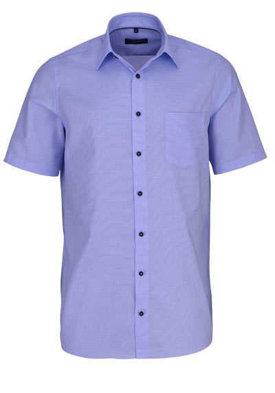 CASAMODA Comfort Fit Hemd Halbarm New Kent Kragen Struktur hellblau - Hemden Meister