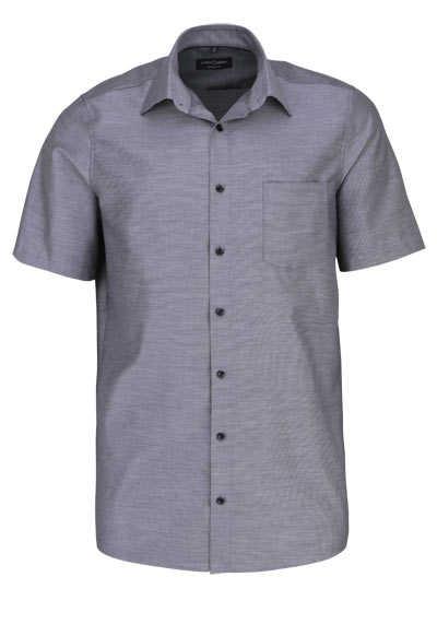 CASAMODA Comfort Fit Hemd Halbarm New Kent Kragen Struktur schwarz - Hemden Meister
