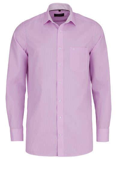 CASAMODA Comfort Fit Hemd Langarm New Kent Kragen Streifen rosa - Hemden Meister