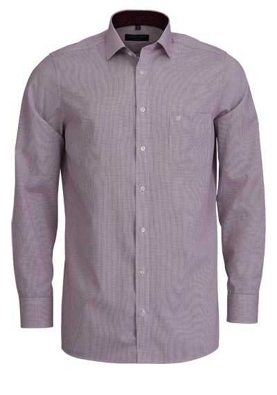 CASAMODA Comfort Fit Hemd Langarm New Kent Kragen Gitterkaro rot - Hemden Meister