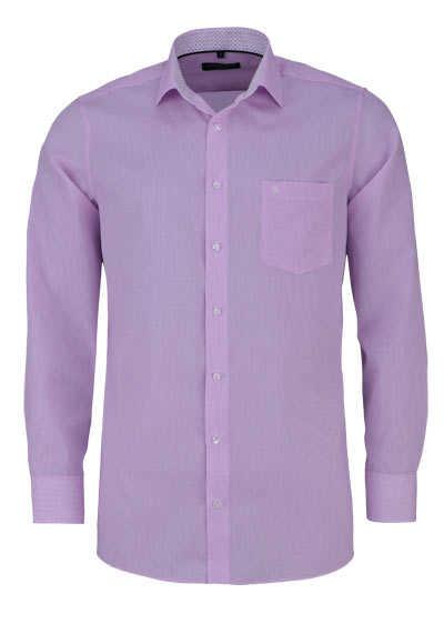 CASAMODA Comfort Fit Hemd Langarm New Kent Kragen Gitterkaro rosa - Hemden Meister