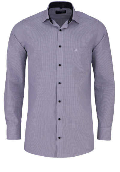 CASAMODA Comfort Fit Hemd Langarm New Kent Kragen Gitterkaro schwarz - Hemden Meister