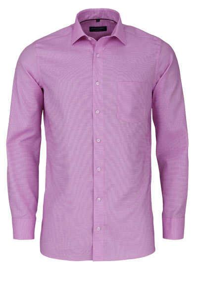 CASAMODA Modern Fit Hemd extra langer Arm Struktur rosa - Hemden Meister