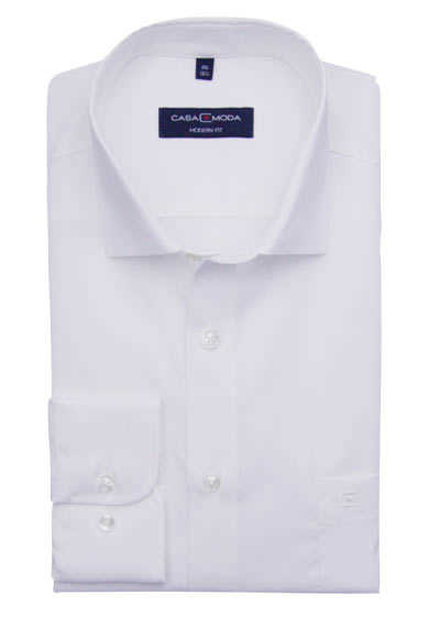 CASAMODA Modern Fit Hemd Langarm New Kent Kragen weiß