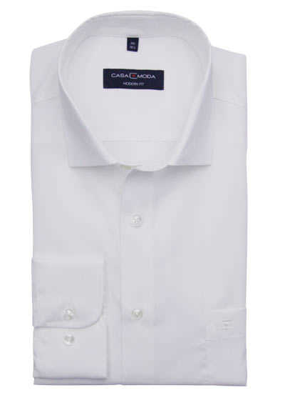 CASAMODA Modern Fit Hemd Langarm New Kent Kragen beige