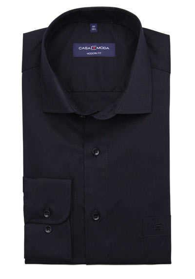 CASAMODA Modern Fit Hemd Langarm New Kent Kragen schwarz