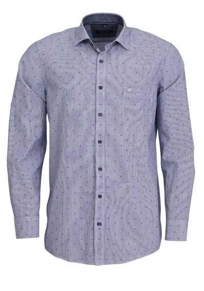 CASAMODA Comfort Fit Hemd Langarm Haifischkragen Streifen blau - Hemden Meister