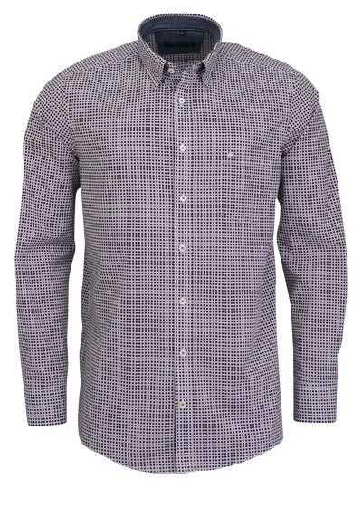 CASAMODA Comfort Fit Hemd Langarm mit Besatz Muster rot - Hemden Meister