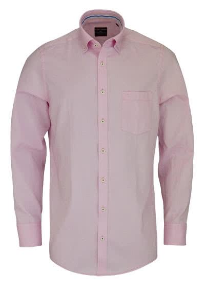 CASAMODA Comfort Fit Hemd Langarm Button Down Kragen Oxford rosa - Hemden Meister