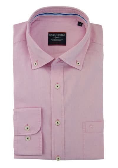 CASAMODA Comfort Fit Hemd Langarm Button Down Kragen Oxford rosa