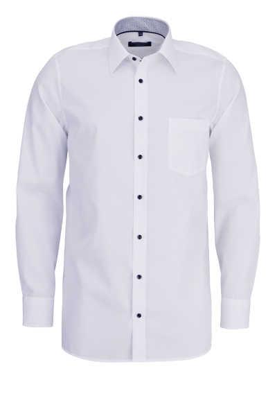 CASAMODA Comfort Fit Hemd Langarm New Kent Kragen weiß